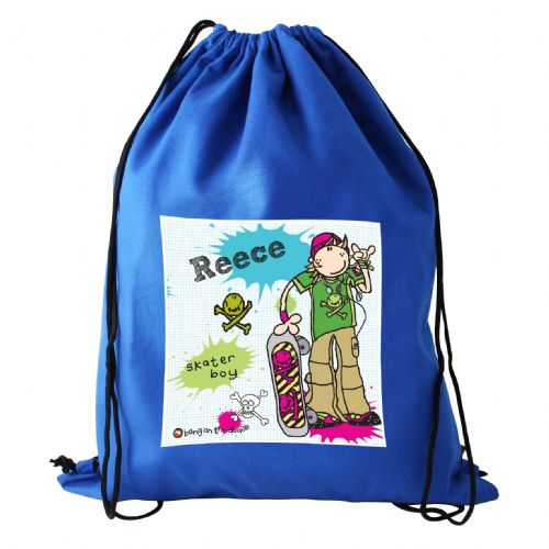 Personalised Bang On The Door Boys Swim bag